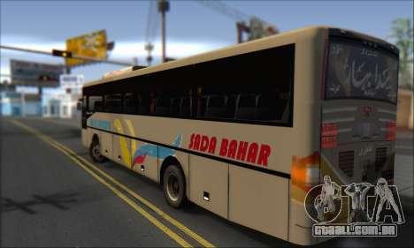 Sada Bahar Coach para GTA San Andreas esquerda vista