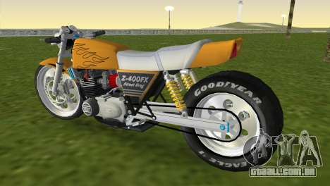 Kawasaki Z400FX Street Drag Racer para GTA Vice City deixou vista