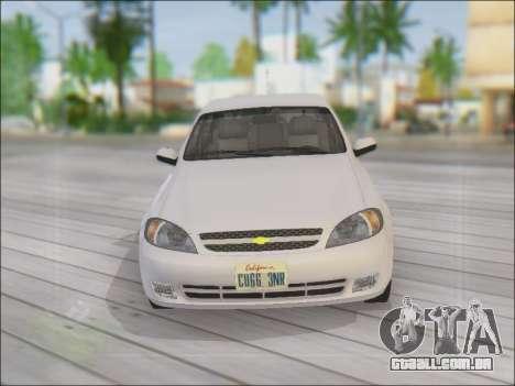 Chevrolet Lacetti para GTA San Andreas vista superior