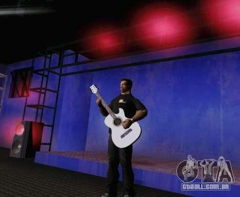 Músicas de Viktor Tsoi guitarra para GTA San Andreas por diante tela