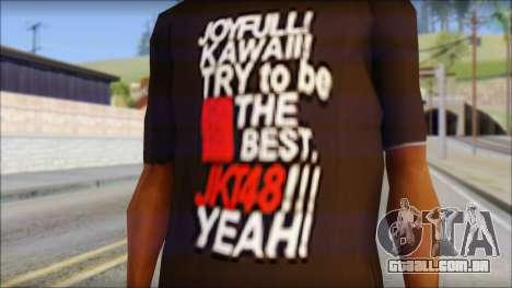 JKT48 Joyfull Kawai Shirt para GTA San Andreas terceira tela