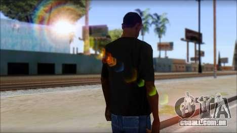 DG Negra T-Shirt para GTA San Andreas segunda tela