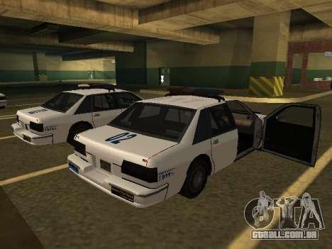 Police Original Cruiser v.4 para GTA San Andreas esquerda vista
