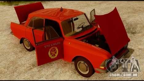 Moskvich U para GTA San Andreas vista interior