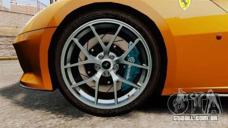 Ferrari 599 GTO PJ2 para GTA 4 vista de volta