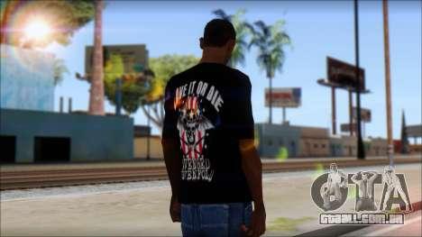 A7X Love It Or Die Fan T-Shirt para GTA San Andreas segunda tela