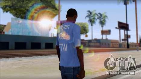 Nyan Cat FTW T-Shirt para GTA San Andreas segunda tela