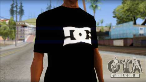 DC Shoes Shirt para GTA San Andreas terceira tela