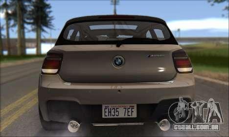 BMW M135i para GTA San Andreas vista inferior