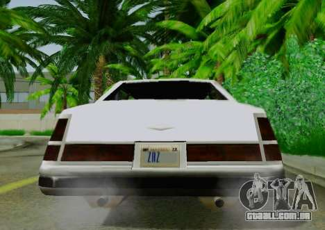 Washington Limousine para GTA San Andreas vista traseira