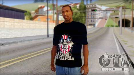 A7X Love It Or Die Fan T-Shirt para GTA San Andreas