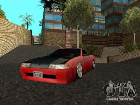 Elegy Cabrio HD para GTA San Andreas vista interior