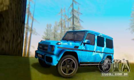 Mercedes-Benz G65 Blue Star para GTA San Andreas vista superior