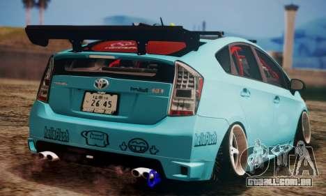Toyota Prius Hybrid 2011 Helaflush para GTA San Andreas vista traseira