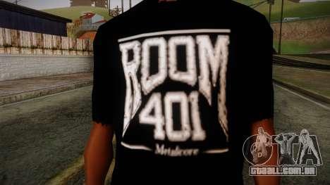 Room 401 T- Shirt para GTA San Andreas terceira tela