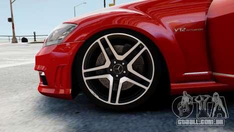 Mercedes-Benz S65 W221 AMG v1.3 para GTA 4 vista inferior