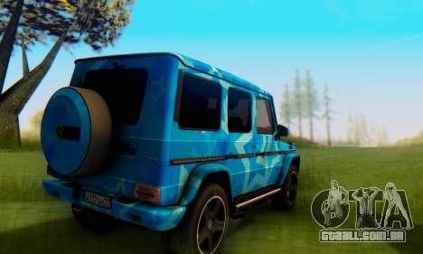 Mercedes-Benz G65 Blue Star para GTA San Andreas vista traseira