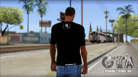 GTA 5 T-Shirt para GTA San Andreas segunda tela