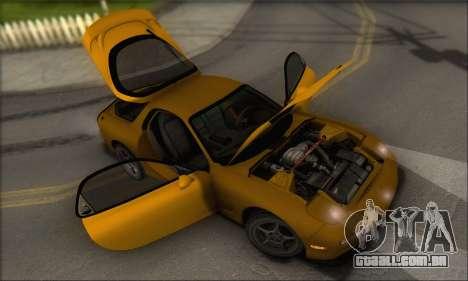 Mazda RX-7 1991 para vista lateral GTA San Andreas