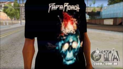 Papa Roach The Connection Fan T-Shirt para GTA San Andreas terceira tela