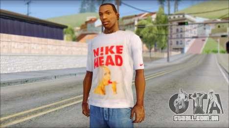 N1KE Head T-Shirt para GTA San Andreas