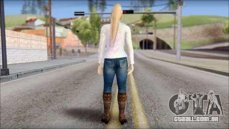 Sarah from Dead or Alive 5 v4 para GTA San Andreas segunda tela