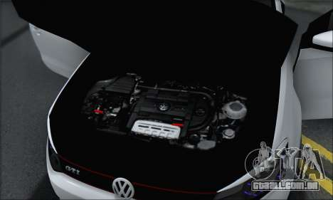 Volkswagen Polo para GTA San Andreas vista inferior