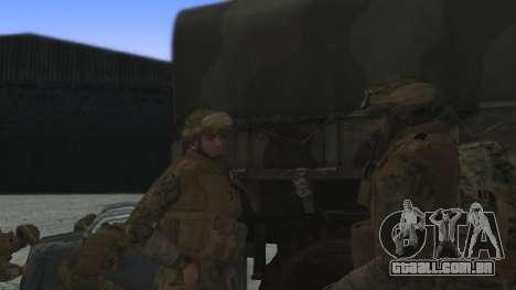 O comandante da CDI, EUA para GTA San Andreas segunda tela