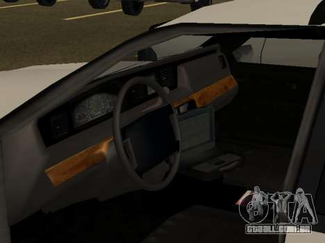 Police Original Cruiser v.4 para GTA San Andreas vista inferior