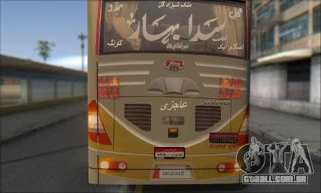 Sada Bahar Coach para GTA San Andreas vista interior