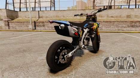 Yamaha YZF-450 v1.18 para GTA 4 traseira esquerda vista