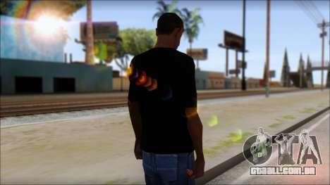 Destroyers T-Shirt Mod para GTA San Andreas segunda tela