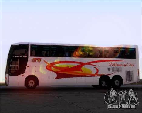 Busscar Jum Buss 400 Volvo B10R Pullman Del Sur para o motor de GTA San Andreas