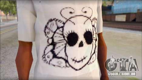 Skull Butterfly T-Shirt para GTA San Andreas terceira tela