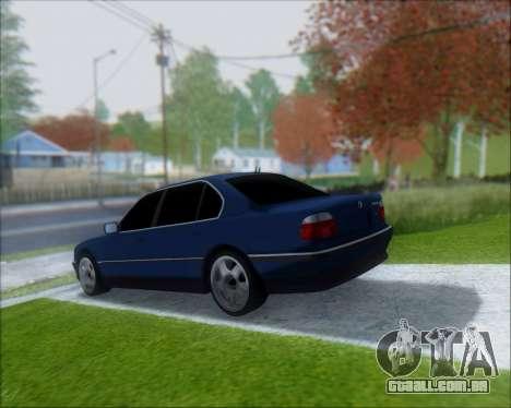 BMW 7 E38 para GTA San Andreas esquerda vista