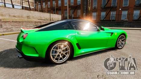 Ferrari 599 GTO PJ4 para GTA 4 esquerda vista