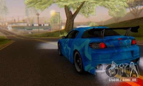 Mazda RX-8 VeilSide Blue Star para vista lateral GTA San Andreas