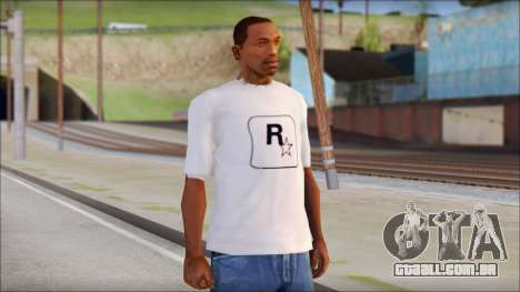 Rockstar Games White T-Shirt para GTA San Andreas