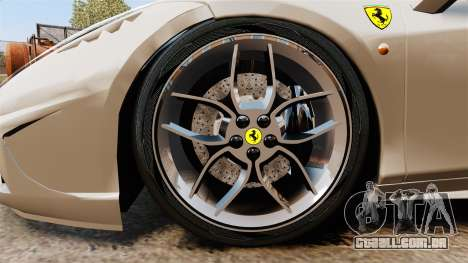 Ferrari 458 Italia Speciale Novitec Rosso para GTA 4 vista de volta