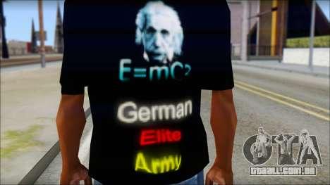German Elite Army Emcore Fan T-Shirt para GTA San Andreas terceira tela