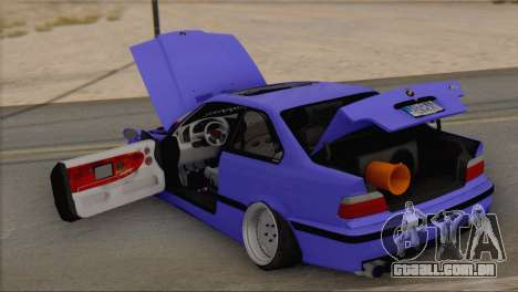 BMW M3 E36 Coupe Slammed para GTA San Andreas vista traseira