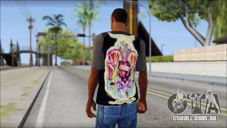 Ed Hardy T-Shirt para GTA San Andreas segunda tela