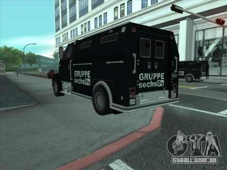 Securicar из GTA 3 para GTA San Andreas traseira esquerda vista