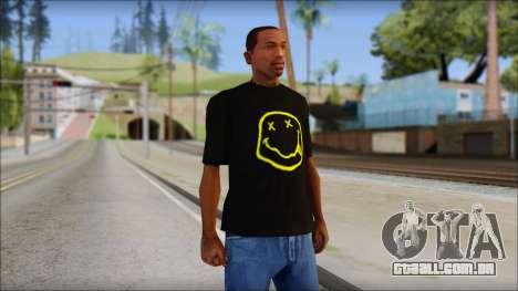 Nirvana T-Shirt para GTA San Andreas