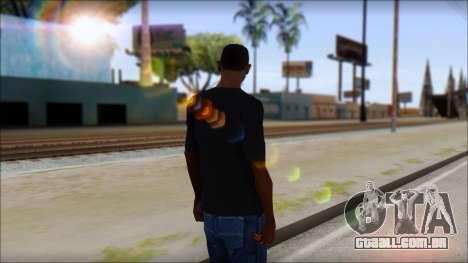 Undertaker T-Shirt v2 para GTA San Andreas segunda tela