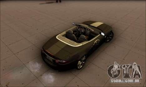 Jaguar XK 2007 para GTA San Andreas traseira esquerda vista