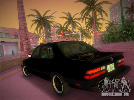 BMW 535i US-spec e28 1985 para GTA Vice City deixou vista