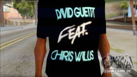 David Guetta Gettin Over T-Shirt para GTA San Andreas terceira tela