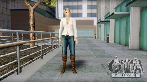 Sarah from Dead or Alive 5 v1 para GTA San Andreas