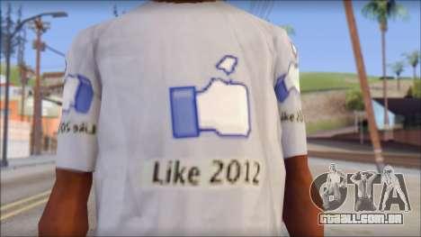 The Likersable T-Shirt para GTA San Andreas terceira tela